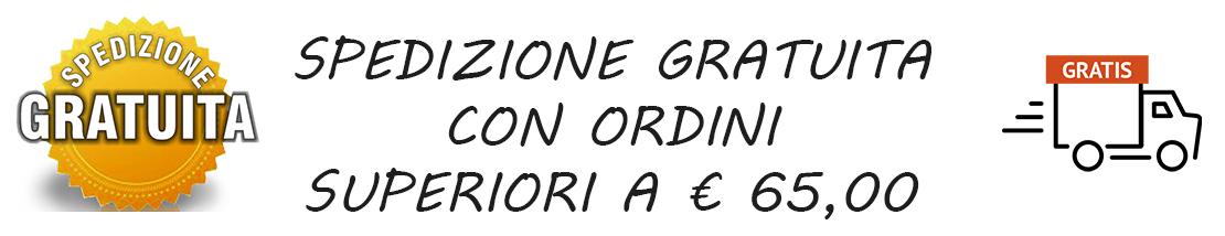 Spegizone gratuita con ordini superiori a € 65,00 in tutta italia.